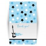 Rock Star Blue Folded Thank you notes