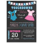 Touchdowns or Tutus Gender Reveal Baby Shower Invitation