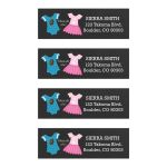 Gender Reveal Touchdowns or Tutus Mailing Address Labels