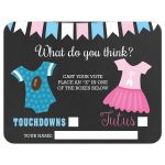 Gender Reveal Voting Card | Ballot Card | Touchdowns or Tutus Party