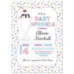 Sundae Baby Sprinkle Baby Shower Invitation