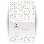 Sundae Baby Sprinkle Baby Shower Folded Thank you note