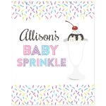 Sundae Baby Sprinkle Custom Sign Poster
