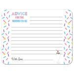 Ice Cream Sundae Baby Sprinkle Advice Card