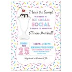 Ice Cream Social Baby Shower Invitation
