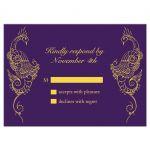 Purple Peacock Wedding RSVP