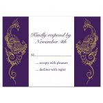Purple and White Peacock RSVP