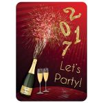 New Year's Eve party invitation with champagne