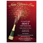 New Years invite with fireworks
