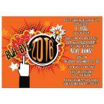 Blow up 2016 novelty rude and funny 2016 2017 New Years Eve party invitation