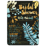 Woodsy Floral Bridal Shower Invitation