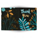 Warm Earth Floral Thank You Card