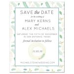 Save the Date Photo Template | Spring Floral Nature Wreath