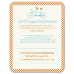 Romantic Journey | Birds on a Bicycle Retro Wedding Reception Card | Accommodations Card Double sided