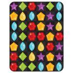 Unique jewel puzzle video game Bat Mitzvah RSVP card back