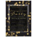 Gold Confetti Elegant Engagement Party Invite