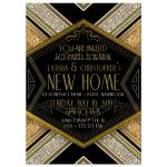 Art Deco & Steampunk style Invitation