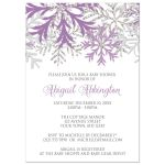 Baby Shower Invitations - Winter Snowflake Purple Silver