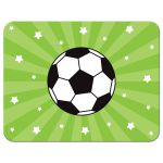 Soccer ball and stars, personalized note card for boys