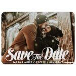 Bold Script Save the Date Photo Card