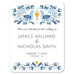 Modern folk art birds wedding save the date announcement