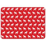 Scandinavian Dala horse personalized stationery in red, gray and white