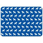 Scandinavian Dala horse note card with custom text