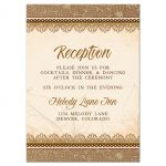Elegant rustic burlap and lace wedding reception enclosure card front