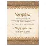 Elegant rustic burlap and lace wedding reception enclosure card front