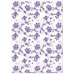Pink and purple gerbera daisy floral damask Bat Mitzvah invitation back