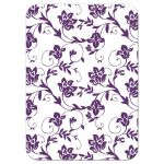 Purple and yellow sunflower floral damask Bat Mitzvah reception party insert card back