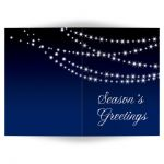 String lights on navy Holiday Card