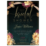 Bohemian Bridal Shower Invite | Summer Floral
