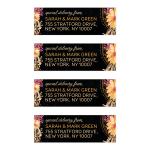Floral+Feathers Bohemian Mandala Address Labels