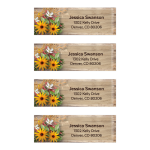 Rustic Wildflowers Wedding Address Labels