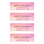Pink and White Sparkle Address Labels | Gold Bokeh Lights