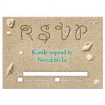 Sandy Toes Salty Kisses coordinating RSVP in turquoise