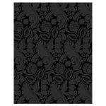 Wedding Reception Card Roaring 20s Art Deco Black Ivory Back