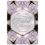 Purple Sparkly Art Deco Glam Bridal Shower invite