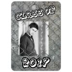 Photo graduation invitation for a male