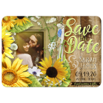 Sunflower and Baby's Breath Save the Date card