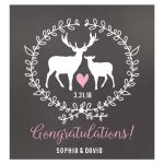 Deer Buck and Doe Wedding Wine Label Beverage Label Custom