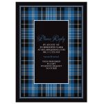 Scottish clan Clark tartan 80th birthday invitation back