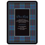 Scottish clan Anderson tartan 80th birthday invitation back