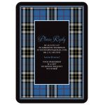 Scottish clan Thompson or Thomson tartan 80th birthday invitation back