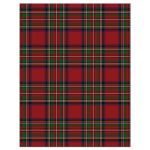 Scottish Royal Stewart tartan (Stuart tartan) RSVP card with celtic knot flourish back