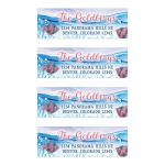 Under the sea Bat Mitzvah personalized return address labels with ocean water and tropical fish