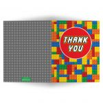 LEGO building blocks thank you card.