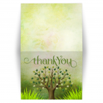 Spring Tree of Life Thank You Folded Card V1