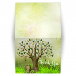 Spring Tree of Life Thank You Card / Folded / Version 2